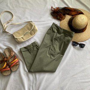 SUMMER SALE Jackie olive green capris & scarf